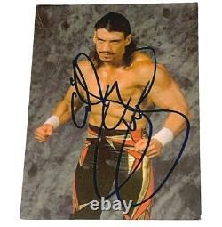 Wwe Wcw Eddie Guerrero Signé À La Main Panini 4x6 Photo Avec Psa Dna Coa