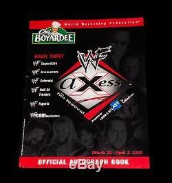 Wwe Wwf Livre D'autographes Signé À La Main Par 72 Guerrero Benoit Undertaker Vince Rare