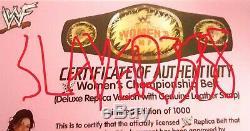 Wwf Wwe Lita Amy Dumas Signée À La Main Ceinture Championnat Autographié Deluxe Femmes