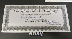 Wwf Wwe Owen Hart Hand Signed Autograph Color 8 X 10 Photo Avec C. O. Un