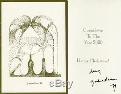 Yoko Ono Carte De Noël 1999 Signée À La Main Uacc Rd # 289