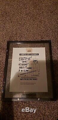 (autographie) Eazy-e Kokane Og Dresta Ruthless Records 1993 (signé À La Main)
