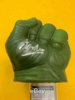 (signé) Stan Lee Écrire Hulk Main Gauche (psa Adn T58524) Marvel Rare